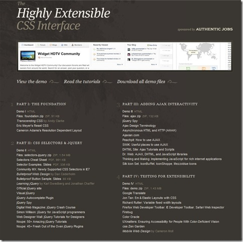 Highly Extensible CSS Interface